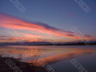 clouds after sundown sun