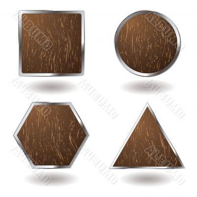 wood button variation