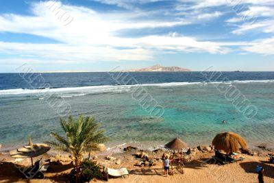 African resort on the seashore