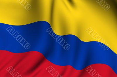 Rendered Colombian Flag