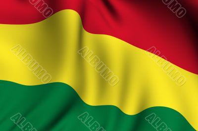 Rendered Bolivian Flag