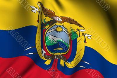 Rendered Ecuadorian Flag