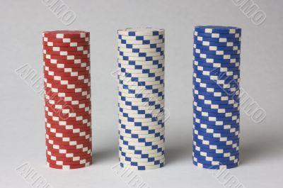 Poker Chip Stacks