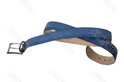 convolute blue belt with buckle