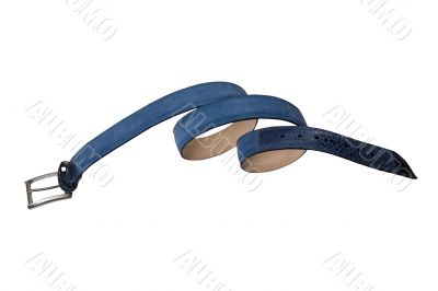 convolute in spiral blue belt with buckle