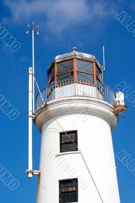 White lighthouse exterior