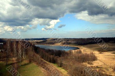 Russian landscape, Spring season