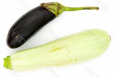 vegetable marrow and eggplant