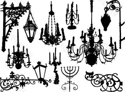 Vector baroque elements