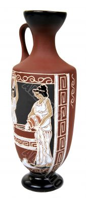 isolated antique ceramic vessel