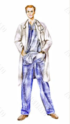 Doctor physician trust a man who illustration
