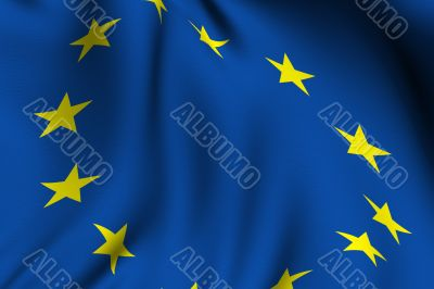Rendered European Flag