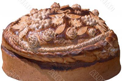 Isolated Ukrainian festive bakery Holiday Bread