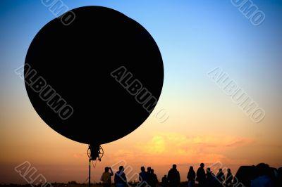 flying blimp silhouette