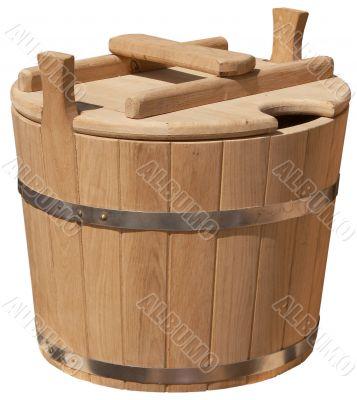 isolated elegant handmade bucket