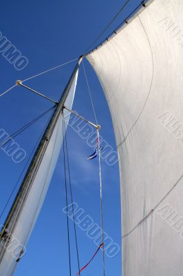 wind blowing in sails