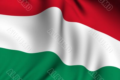Rendered Hungarian Flag