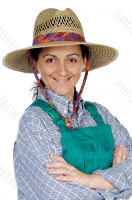 Beautiful woman gardener