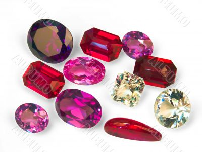 faceted stones