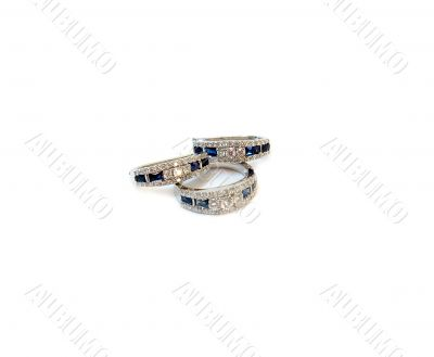Brilliance ring with earrings