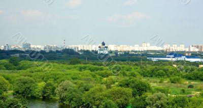 Cityscape in nature