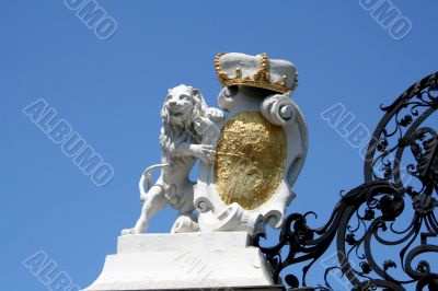 Entrance Gate. Belvedere Palace in Vienna.