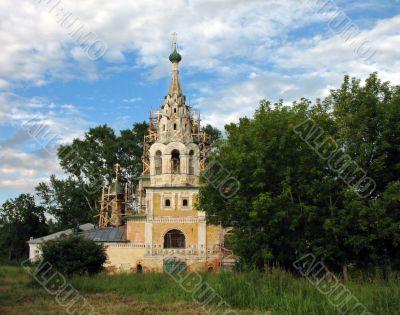 Ioann Predtechi`s temple on Volga in Uglich