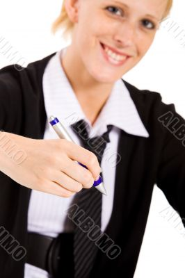 Business woman wants to write