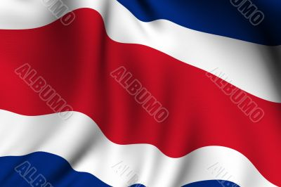 Rendered Costa Rican Flag