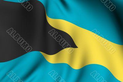 Rendered Bahamian Flag