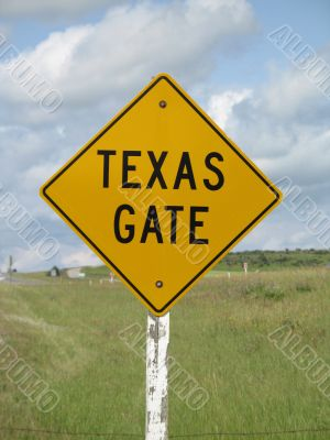 texas gate sign