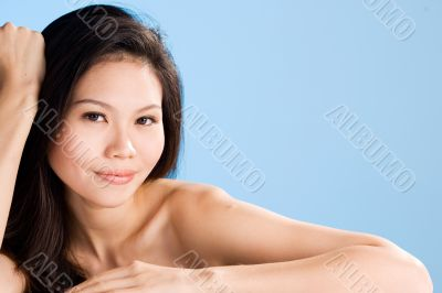 attractive sensual looking asian woman