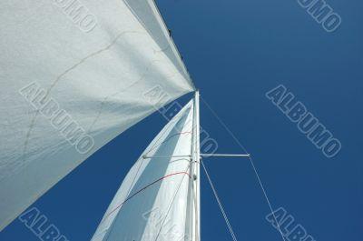 Sails,mast and the blue sky 2