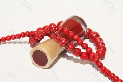 Nail polish and necklace