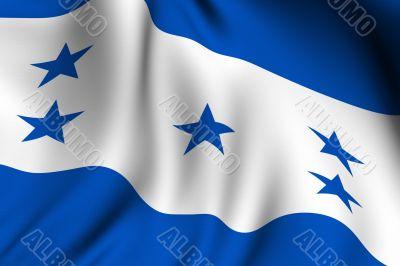Rendered Honduran Flag