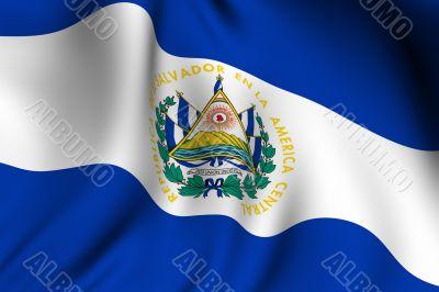 Rendered Salvadoran Flag
