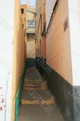 Narrow street of Las Palmas