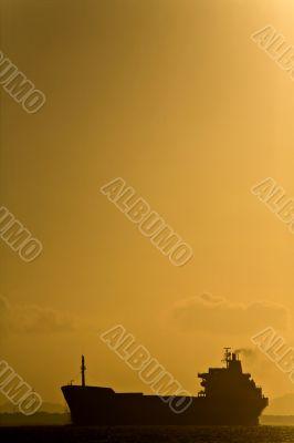 Oil Tanker Silhouette