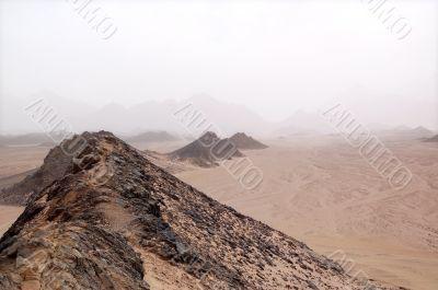 mountains in desert