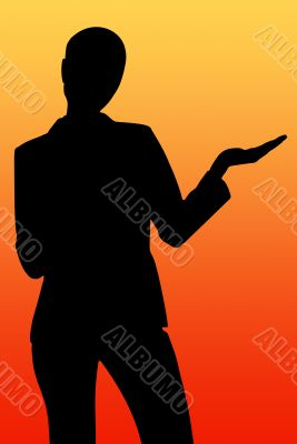 Businesswoman with hand