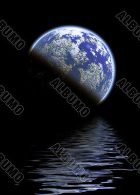 Planet half reflect