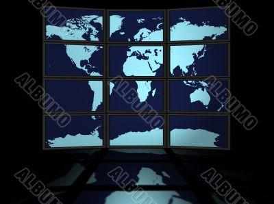 World Map Plasma Displays