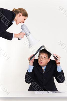 Cry of employee