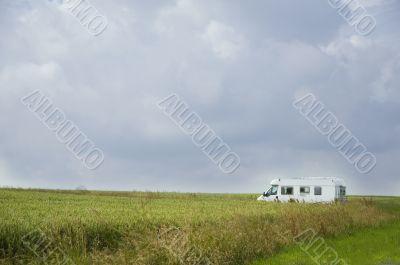 camping car in landscape