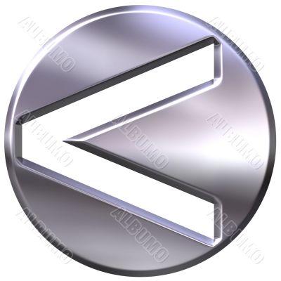 Silver Framed Inequality Symbol