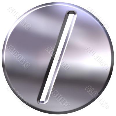 3D Silver Framed Division Symbol