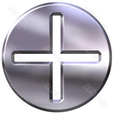 3D Silver Framed Addition Symbol