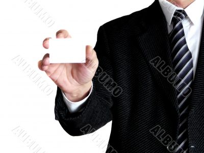 Men with card