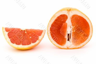 Big ripe grapefruit