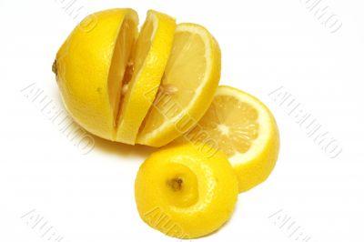 parts of a yellow lemon